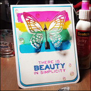 Distress Stain Butterfly Card