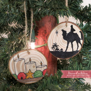 more wood slice ornaments